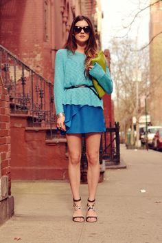 "Laura of ""On The Racks"" wearing UO's dress #urbanoutfitters @Laura Ellner"