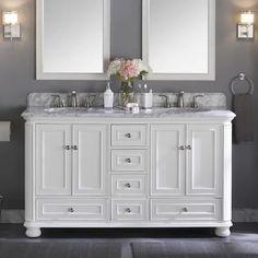 Scott Living Wrightsville 60 In White Double Sink Bathroom Vanity