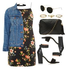 """Sin título #13273"" by vany-alvarado ❤ liked on Polyvore featuring Topshop, Madewell, Chanel and Ray-Ban"
