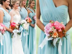 Mary Frances & David: Colorful Summer Wedding #bridesmaids #bouquet