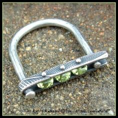 Peridot hand-crafted ring