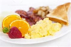 Image result for Plate of Breakfast Food