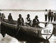 Hudson Bay Co. voyageur canoe, Quebec.