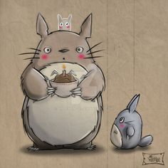 Birthday Totoro by MrRevenge.deviantart.com on @DeviantArt
