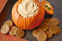 Dip into dessert with cookies or crackers and scoop up a taste of our fluffy pumpkin dip. Perfect for the holidays—or anytime, really!