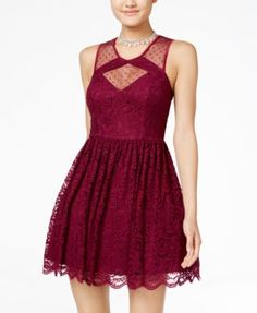 City Studio Juniors' Cutout Lace Fit & Flare Dress $69.99 Go ultra-glam in this flirty lace dress from City Studios.