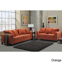 Shop for Furniture of America Alton Contemporary Chenille Sofa & Loveseat Set. Get free delivery On EVERYTHING* Overstock - Your Online Furniture Shop! Living Room Remodel, Living Room Sofa, Living Spaces, Sofa And Loveseat Set, Couch, Best Sofa, Modern Sofa, Love Seat, Sofa