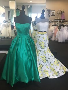 Mother of the Bride? Prom? Sherri Hill is so diverse you can wear it for any age any occasion! Ballgown satin styles or lace fitted floral print two pieces.