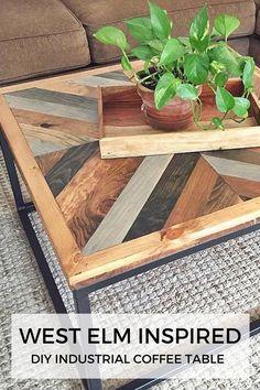 West Elm Inspired Industrial DIY Coffee Table