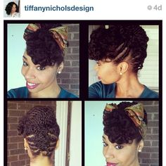 Flat Twists & Scarf   Ahhh I love this! This is the kind of stuff you go to a natural hairdresser for.
