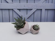 An ideal decorative accessory for your home. Great handmade geometric concrete planter perfect for succulent and cactus.  Dimensions are about