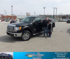 #HappyAnniversary to Rickie Marble on your 2011 #Ford #F-150 from Cory Howard  and everyone at Crossroads Chevrolet Cadillac!