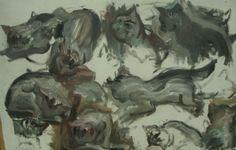 Katzen, Gemälde Hombroich - Foto: S. Hopp