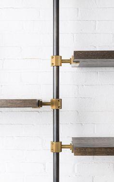 The Loft 3 Post Hanging Unit - Amuneal: Magnetic Shielding & Custom Fabrication Shelf Furniture, Furniture Design, Sparkle Decorations, Floor To Ceiling Bookshelves, Airport Design, Hanging Cabinet, Joinery Details, Shelving Design, Paint Colors For Home