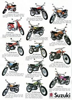1971 Suzuki Motorcycles Advertising Hot Rod Magazine March 1971