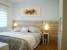 08-ideias-de-cabeceira-para-quartos-de-casal Teenage Girl Bedrooms, Girls Bedroom, Master Bedroom, Basement Bedrooms, Space Interiors, Small Spaces, Sweet Home, New Homes, Room Decor