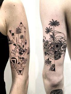 Best Couple Tattoos - Best Couple Tattoos Ideas with photos. Modern Art Tattoos, Line Art Tattoos, Unique Tattoos, Cute Tattoos, Body Art Tattoos, Small Tattoos, Tattoos For Guys, Tattoos For Women, Tattoo Art