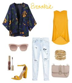 """""""Brookie"""" by la-stevy ❤ liked on Polyvore featuring Steve Madden, Chicnova Fashion, River Island, One Teaspoon, Amrita Singh, STELLA McCARTNEY, Valentino and Too Faced Cosmetics"""