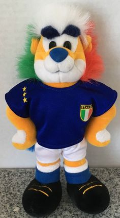 "Italia Soccer Jersey Mascot Plush Trudi Spa Stuffed Animal 10"" Green White Red…"