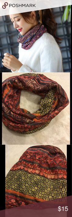 Headband 3 in 1 Beanie Cap Athletic Boho Ethnic New fashionable head scarf, Headband, Neck wrap. Variety of colors to choose from. Wear for fashion or wear for athletic purpose. Great for a skull cap, beanie, or wear as a headband! 070320173391803 coral and green tones. Accessories Hair Accessories