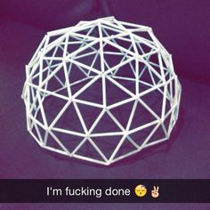 Geodesic Dome  #school #project #architecture #design