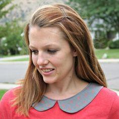 How to add a peter pan collar to a plain shirt.