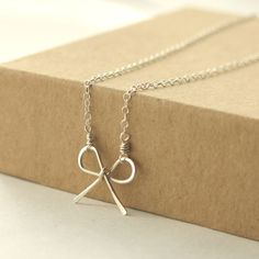 tie the knot, bride, bridesmaid, bff, sisters wedding gift ribbon necklace minimalist style Gift Ribbon, Ribbon Bows, Bride Gifts, Wedding Gifts, Ribbon Necklace, Little Bow, Awareness Ribbons, Sterling Silver Necklaces, Necklace Lengths