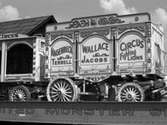 Hagenbeck Wallace cage wagon that was new in 1966. Baraboo,WI