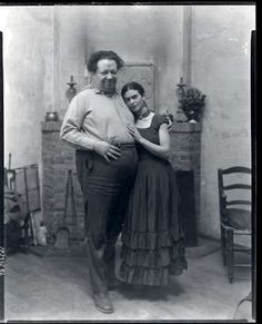 Diego Rivera & Frida Kahlo / Photo by Peter A. Juley & Son / Smithsonian