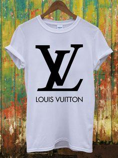 Louis Vuitton Logo Retro Vintage Dope Indie Swag Geek Chanel Versace Celine Paris Hippie Comme Des Fuckdown Men Women Unisex Top T-Shirt on Etsy, $14.97