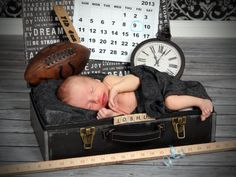 Newborn Photography \ Baby Portraits This is adorable, only I'd do it with a baseball and glove