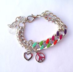 girl Collection Milano anallergici - Rainbow Bracelet - Peace & Love in un gioiello a colori, telli collection Simonetta Granatelli , Amanda Marzolini, the. Peace And Love, Rainbow, Jewels, Personalized Items, Fairytale, Bracelets, Amanda, How To Wear, Gifts