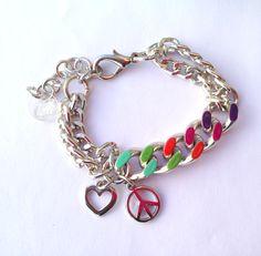 #jewels #bijoux #purple #liliac #girl #fashion #style #rock #fashion #people #milan #tattoo #fashionblogger #style @Telli Collection Milano  #necklace #bracelet #rainbow #colors #colorful #bijoux anallergici - Rainbow Bracelet - Peace & Love in un gioiello a colori, telli collection Simonetta Granatelli , Amanda Marzolini, the...