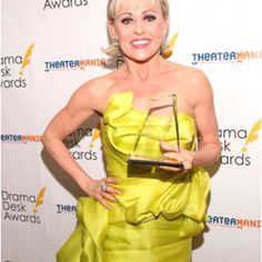 The fabulous Tracie Bennett wears Rubin Singer to The Drama Desk Awards.... And WINS! For Best Actress!
