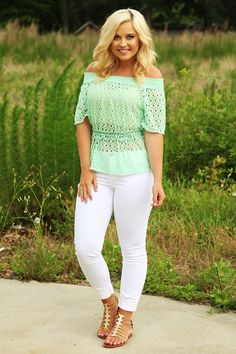 Meant To Be Top: Mint #shophopes