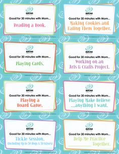 Kid Coupons-FREE PRINTABLE Great conversations with our kids happen most often when we spend relaxed time with them. Relaxed time is a bit tricky in this busy age. Give your child Kid Coupons to ensure you find time to spend together. Then wait for opportunities as you play, create and exercise to have conversations that count.