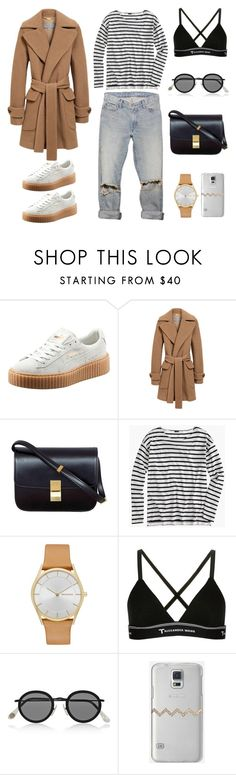 """""""Unbenannt #514"""" by fashionlandscape ❤ liked on Polyvore featuring Puma, Mulberry, CÉLINE, J.Crew, Skagen, T By Alexander Wang, Acne Studios and Casetify"""