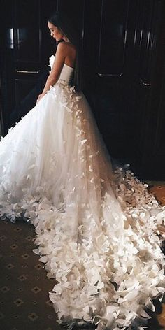 Wedding dresses are