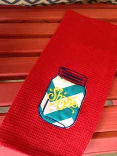Shine Mason Jar Towel by TMIGifts on Etsy, $10.00
