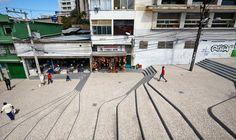 Image 15 of 34 from gallery of Ladeira da Barroquinha / Metro Arquitetos Associados. Photograph by Ilana Bessler Landscape Stairs, Landscape Bricks, Landscape And Urbanism, Landscape Plans, Urban Landscape, Landscape Design, Garden Design, Design D'espace Public, Street Design