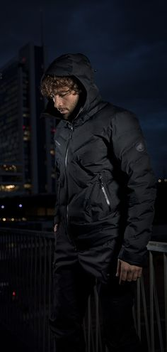 Photics HS Thermo Hooded Jacket Men. The world's first laser-welded, waterproof down jacket. Jacket Men, Hooded Jacket, Laser Welding, First World, Hoods, Jackets, Men's Coats, Jacket With Hoodie