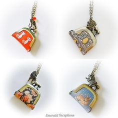 Cute Vintage Style Coin Purse Necklace