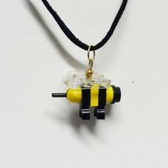 Mini LEGO Bumble Bee Necklace