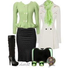 """""""Black and Green"""" by christa72 on Polyvore"""