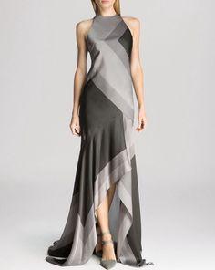 Halston Heritage Silk Gray Gorgeous Dress - Size 2 #HalstonHeritage #AsymmetricalHem #Formal Halston Heritage Dress, Printed Gowns, Evening Dresses, Formal Dresses, Beautiful Gowns, Gorgeous Dress, Blouse Designs, Dress Designs, Silk Gown