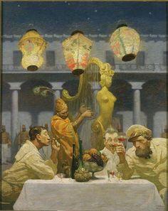 """N.C. Wyeth from """"The Arabian Nights,"""" 1917"""