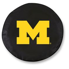 Michigan Wolverines Black Tire Cover w/ Security Grommets
