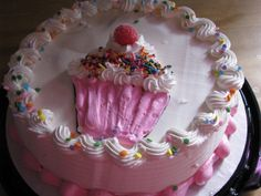 Cupcakes aren't just sweet treats – they're great cake decorations too! This DAIRY QUEEN Cake is the perfect dessert for your princess party. Order yours at www.DQCakes.com