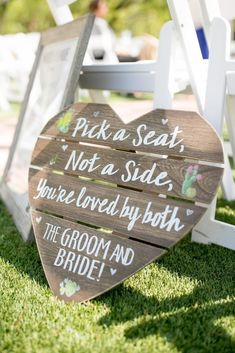 wedding ceremony seating sign pick a seat no Outdoor Wedding Decorations, Wedding Themes, Diy Wedding, Rustic Wedding, Decor Wedding, Trendy Wedding, Outdoor Wedding Signs, Wedding Photos, Dream Wedding