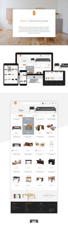 Fabinarish web catalogue on Behance
